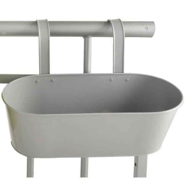 MY BALCONIA BY ESSCHERT DESIGN - Jardinière pour balcon en métal 39.3cm x 26.4cm x 29.5cm