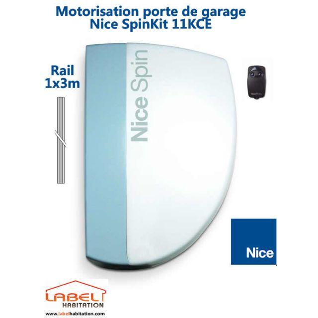Nice motorisation porte de garage spinkit 11kce pas - Porte de garage nice ...