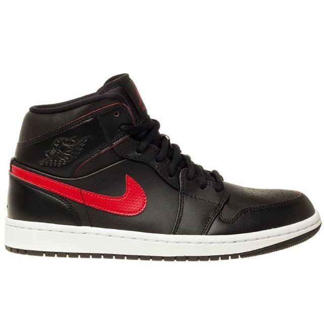wholesale dealer a892d ccc82 Nike - Air Jordan 1 Mid Noir - pas cher Achat   Vente Chaussures basket -  RueDuCommerce
