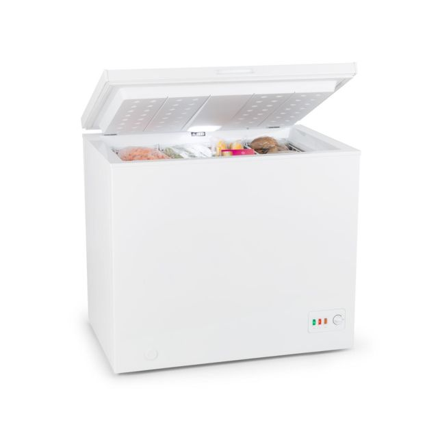 KLARSTEIN Iceblokk Eco Congélateur coffre 200L 49W 41dB classe A+++ - blanc