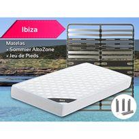 Altobuy - Ibiza - Pack Matelas + AltoZone 120x190 + Pieds
