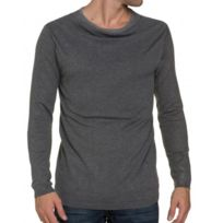Cent's - Pull Gris Double Col Homme