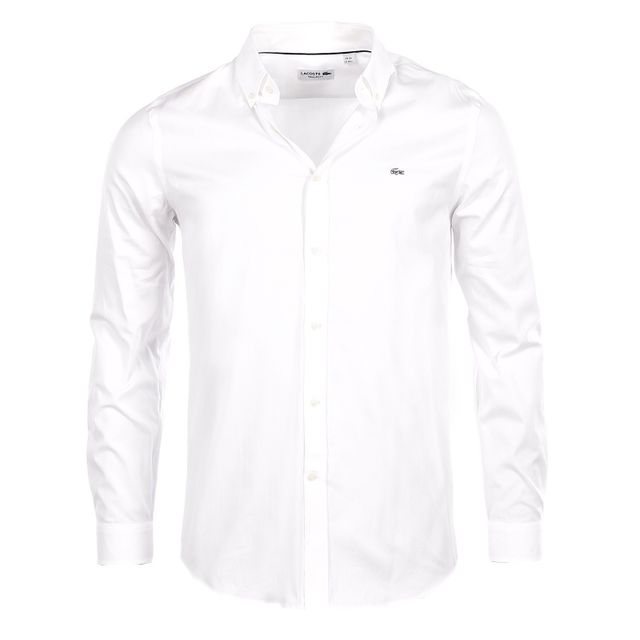 9845225487 Lacoste - Homme - Chemise blanche regular fit Ch8766 - pas cher Achat / Vente  Chemise homme - RueDuCommerce