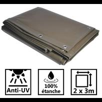 Univers Du Pro - Bâche 2x3 m 680g Haute qualité couleur taupe qualité professionnelle