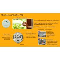 Somfy - Capteur Autonome de température et de luminosité Thermosunis Wirefreerts
