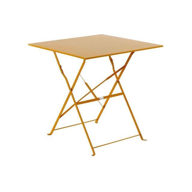 HESPERIDE - Table de jardin carrée pliante 70x70cm Camargue ...