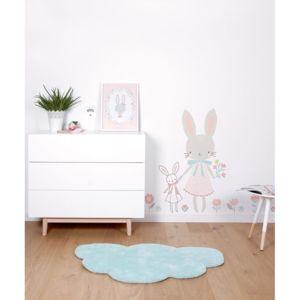 Lilipinso tapis nuage aqua chambre b b gar on par couleur bleu taille 64 x 100 cm - Tapis nuage chambre bebe ...