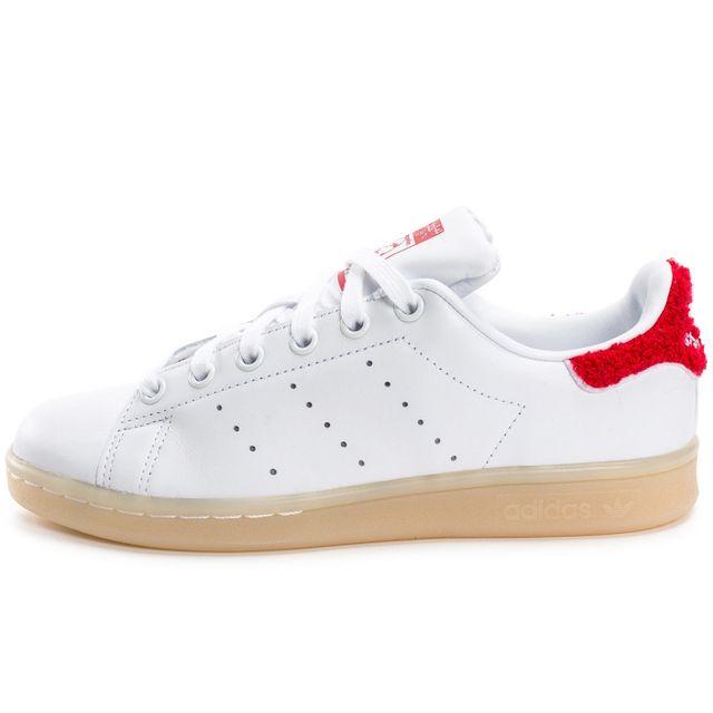 revendeur 2ea9f b874f Adidas originals - Stan Smith Wool Blanche Et Rouge - pas ...