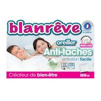 Blanreve - Oreiller synthétique moelleux teflon enveloppe polycoton 60x60cm Anti-tachesnc