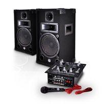 """MyDJ - Pack sono 2 enceintes 8"""" 150W + Table de mixage 2x75W Mdj150-BT"""