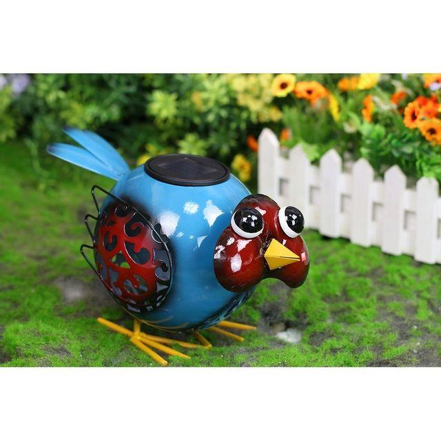 Solaire jardin oiseau - Oiseaux metal pour jardin ...