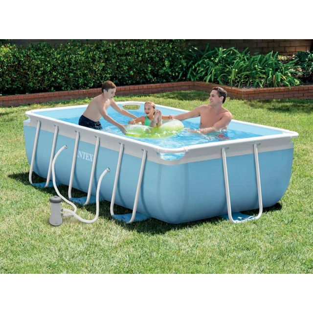 INTEX   Piscine Tubulaire Rectangulaire   3,00 X 1,75 X 0,