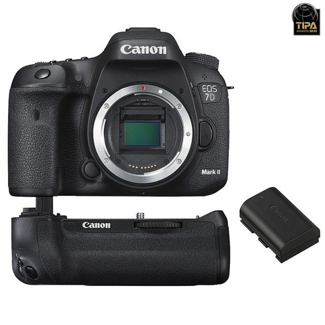 Canon Eos 7D Mark Ii Garanti 3 ans + Grip Bg-e16 + Batterie Lp-e6N