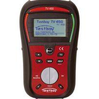 Testboy - Testeur d'installation Tv 450, Protection contre la surtension : Cat Iii 600 V/CAT Iv 300 V