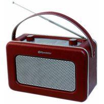 Roadstar - Radio Portable de Design Retro Vintage Tuner Po/FM Marron