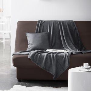 today housse de clic clac unie bachette 100 polyester 135x195cm aktuelle bronze marron. Black Bedroom Furniture Sets. Home Design Ideas