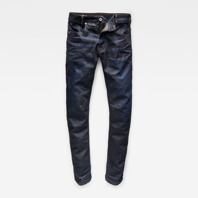 G-STAR RAW - D Staq 5 pocket Bleu - pas cher Achat   Vente Jeans ... d49490753d3c