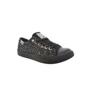 Happy Luck baskets mode  ln6098 noir noir - Chaussures Baskets basses Femme