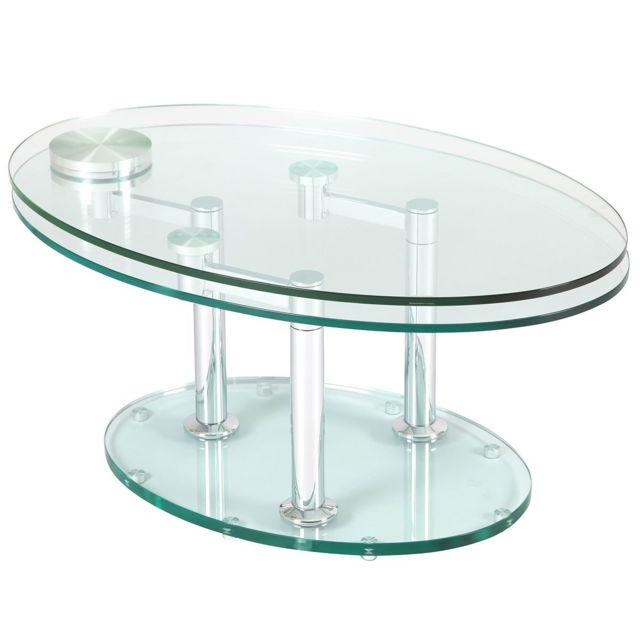 Altobuy Vivia Table Basse Ovale Pas Cher Achat Vente