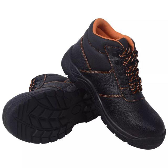 6f049e1e9432 Vidaxl - Chaussures de protection Noir Taille 44 Cuir - pas cher ...