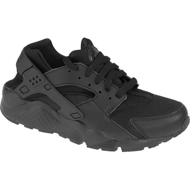 Nike Huarache Run Gs 654275 016 Enfant mixte Baskets Noir