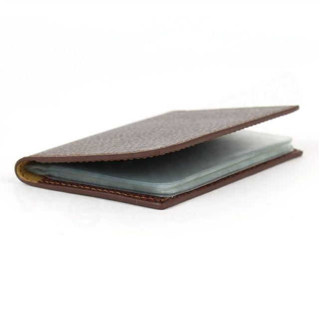 Volumica - Porte 12 cartes cuir Marron Beaubourg