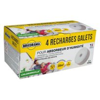Bricorama - Lot de 4 recharges galets percés de 500 g chlorophylles pour absorbeurs d'humidité