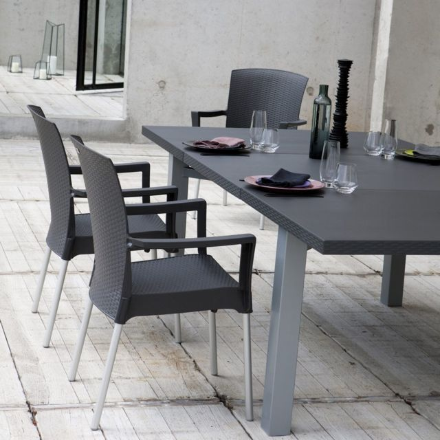 grosfillex salon de jardin de repas ineo design pas cher achat vente fauteuil de jardin. Black Bedroom Furniture Sets. Home Design Ideas