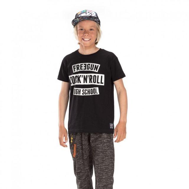 Freegun - T-shirt Rock Noir et Blanc - pas