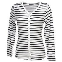 Elegance Oceane - Tee shirt manches longues Rouget tee blanc marin Blanc 75659