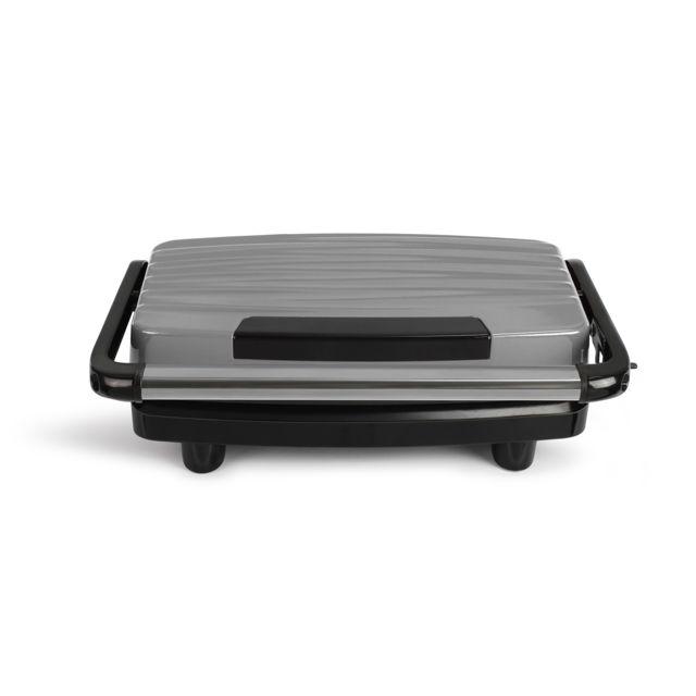 LIVOO grill viandes et panini 750w gris/noir - doc232g