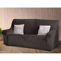 Comptoir Des Toiles - Housse de canapé 3 places unie microfibre polyester ultradouce Achille - Gris