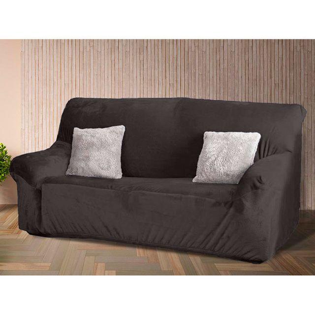 comptoir des toiles housse de canap 2 places unie microfibre polyester ultradouce achille. Black Bedroom Furniture Sets. Home Design Ideas