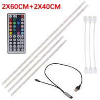 Usb Tv Kit Avec Ruban Lumineuse Multicolore 5050 Led Rétroéclairage Rgb Bande 2pcs Flexible 40cm60cm Télécommande Barre gYb76fy