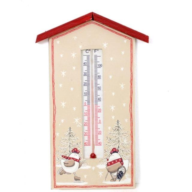 Thermomètre à suspendre - Motifs poules -romane