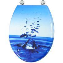 Arvix - Abattant de toilette en bois compressé Mdf Charnière métal Siege Wc standard