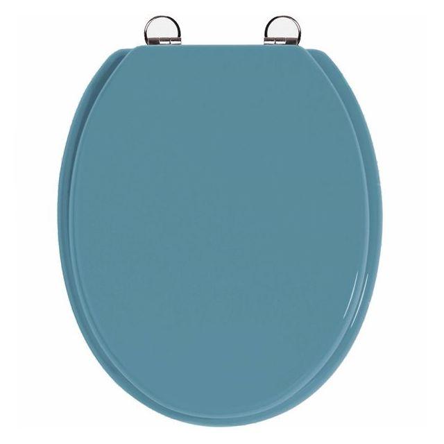 frandis abattant de toilette bleu toucher doux en bois. Black Bedroom Furniture Sets. Home Design Ideas