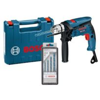 Bosch - Perceuse à percussion Gsb 13 Re Professional 600W + Set de 4 forets