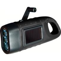 Power Plus - Lampe solaire et dynamo 3 Leds avec mousqueton Seahorse