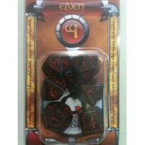 Q-workshop - Dés de jeux noir et rouge Elfiques