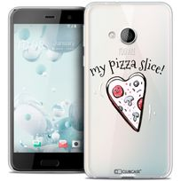 Caseink - Coque Housse Etui Htc U Play Crystal Gel Hd Collection Love Saint Valentin Design My Pizza Slice - Souple - Ultra Fin - Imprimé en France