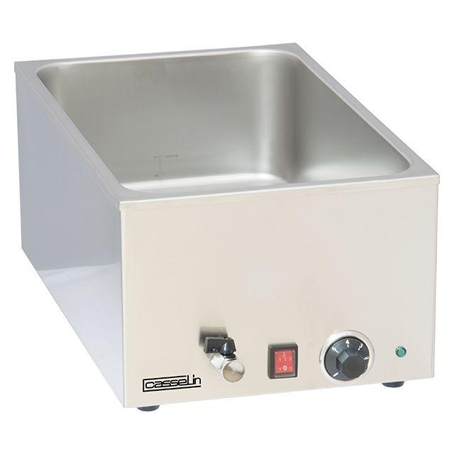 CASSELIN bain marie inox avec robinet de vidange gn 1/1 - cbmv1