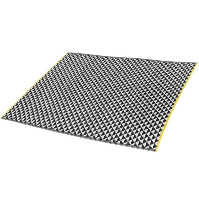 innovaxe tapis int rieur ext rieur 160 x 230 cm en polypropyl ne recycl verona noir pas. Black Bedroom Furniture Sets. Home Design Ideas