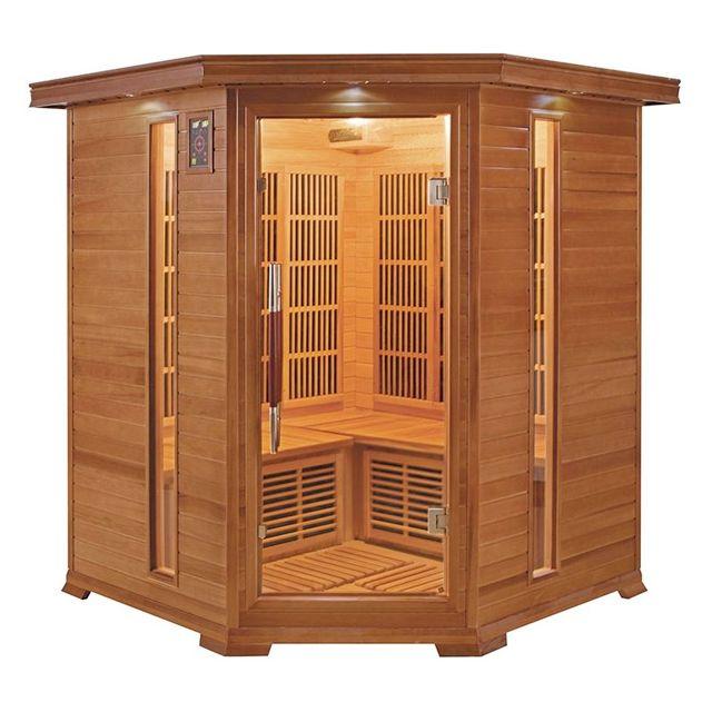 france sauna luxe 3 4 places sauna infrarouge pas cher achat vente saunas chaleur. Black Bedroom Furniture Sets. Home Design Ideas