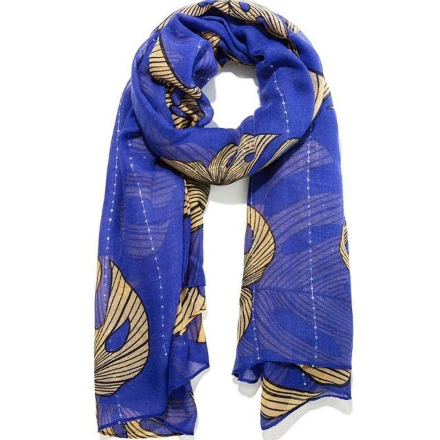 028502c0cbd ... Desigual - Attalea Femme Foulard Bleu Desigual Multicouleur Tu ...