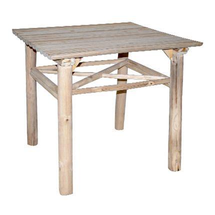 Table repas 80x80x76cm en teck naturel - Alpaga