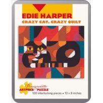 Pomegranate - Edie Harper - Crazy Cat Quilt: 100 Piece Puzzle