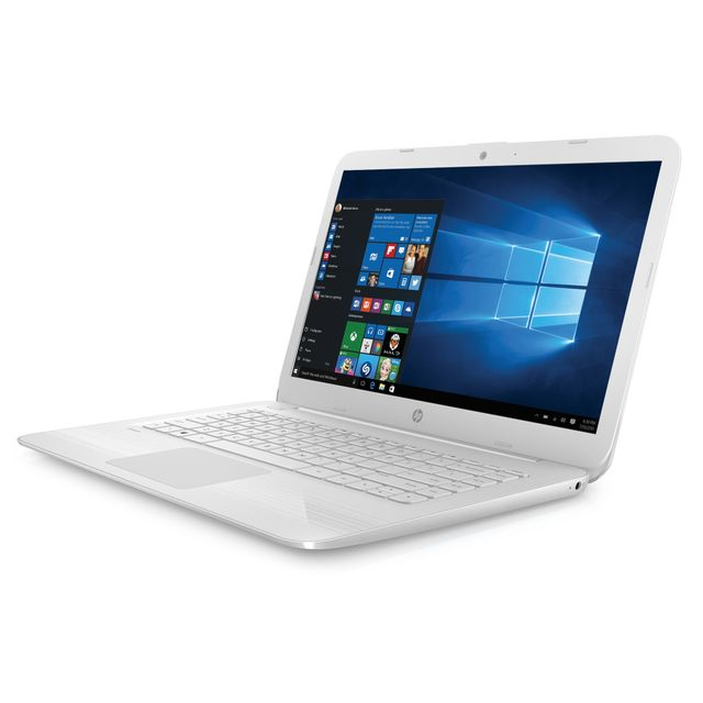 achat hp stream 14 ax004nf blanc neige ordinateur portable 14. Black Bedroom Furniture Sets. Home Design Ideas