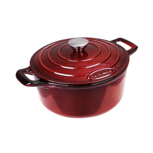 05bde91623cb65 Art   Cuisine - Cocotte ronde fonte acier 28 cm rouge tous feux + induction  Marc