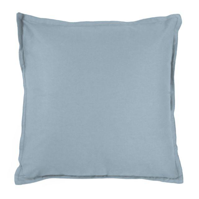 mon beau tapis coussin toile de toscane 40x40cm bleu 100 coton 30cm x 40cm pas cher. Black Bedroom Furniture Sets. Home Design Ideas